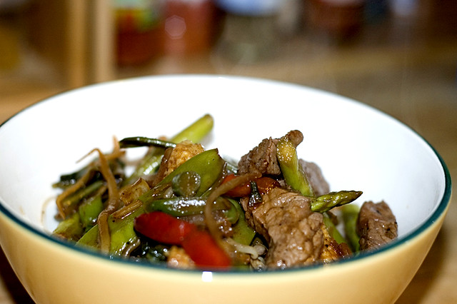 Beef Veggie With Mihoen Fresh Vegetables With Beef In