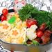 Teriyaki chicken and carrot rice