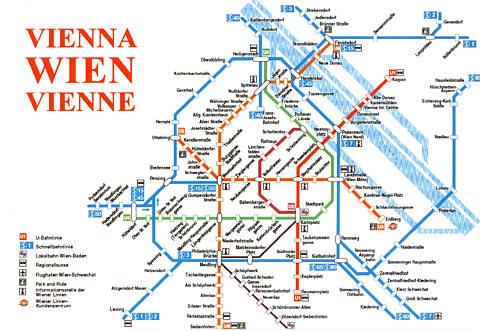Vienna Subway System Map kotarana