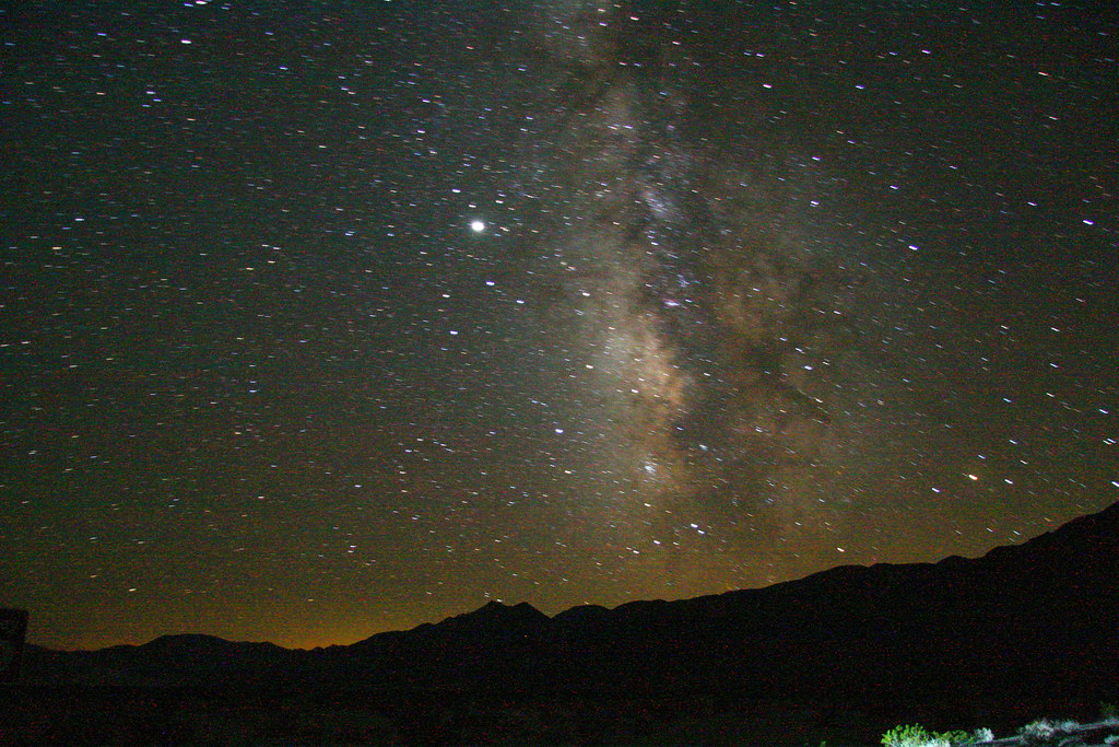 Night sky in Death Valley   Austin took this on his bike tri ...
