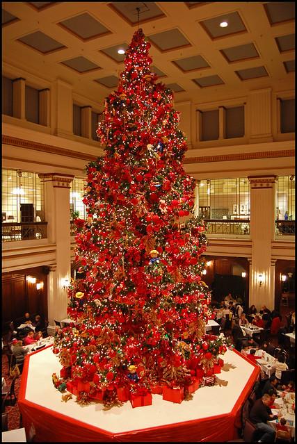Walnut Room Christmas Tree Panoramic The Famous Three