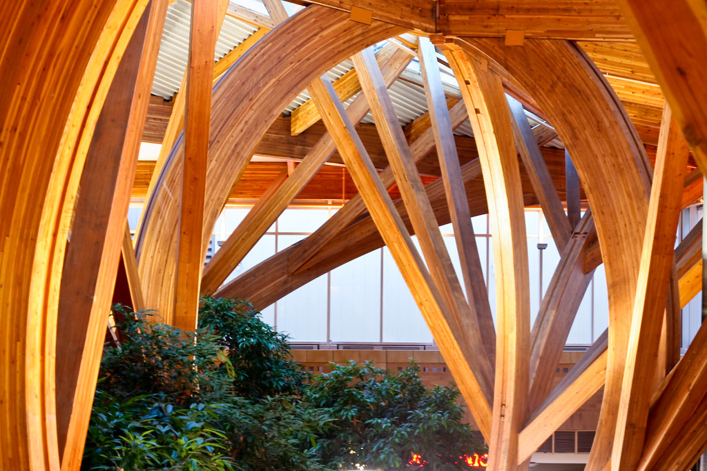 Glulam hospital design credit valley detail of glulam Wood valley designs