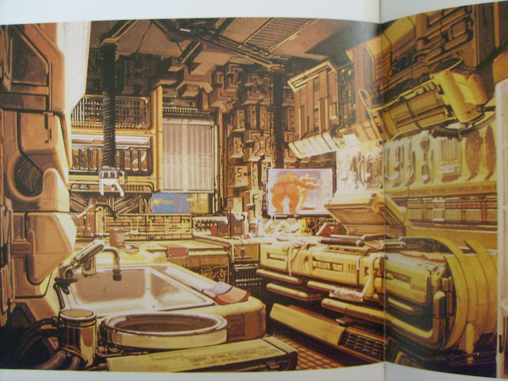 Blade Runner kitchen concept art.jpg | rare Syd Mead Blade