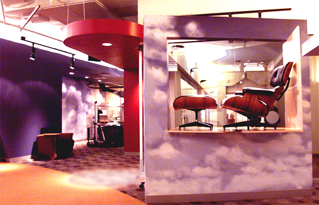 ... Corporate Art For Creative Office Pavilion: Cloud Murals By Phil Manker  | By Phil Manker
