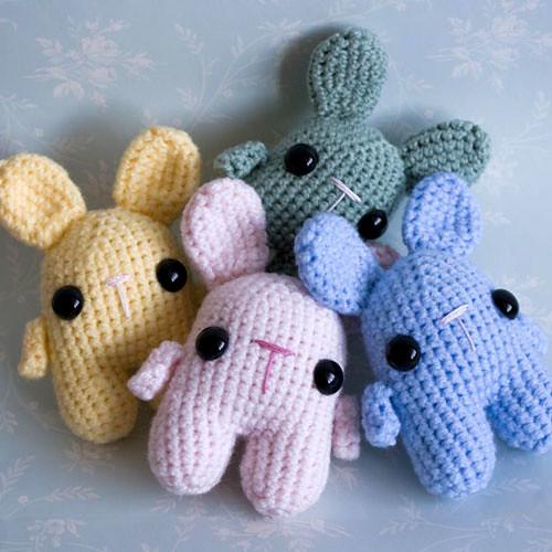 Amigurumi Pastel Kawaii Bunnies Set of cute ickle pastel ...