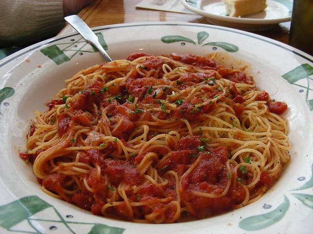 Capellini Pomodoro Roma Tomatoes Garlic Fresh Basil