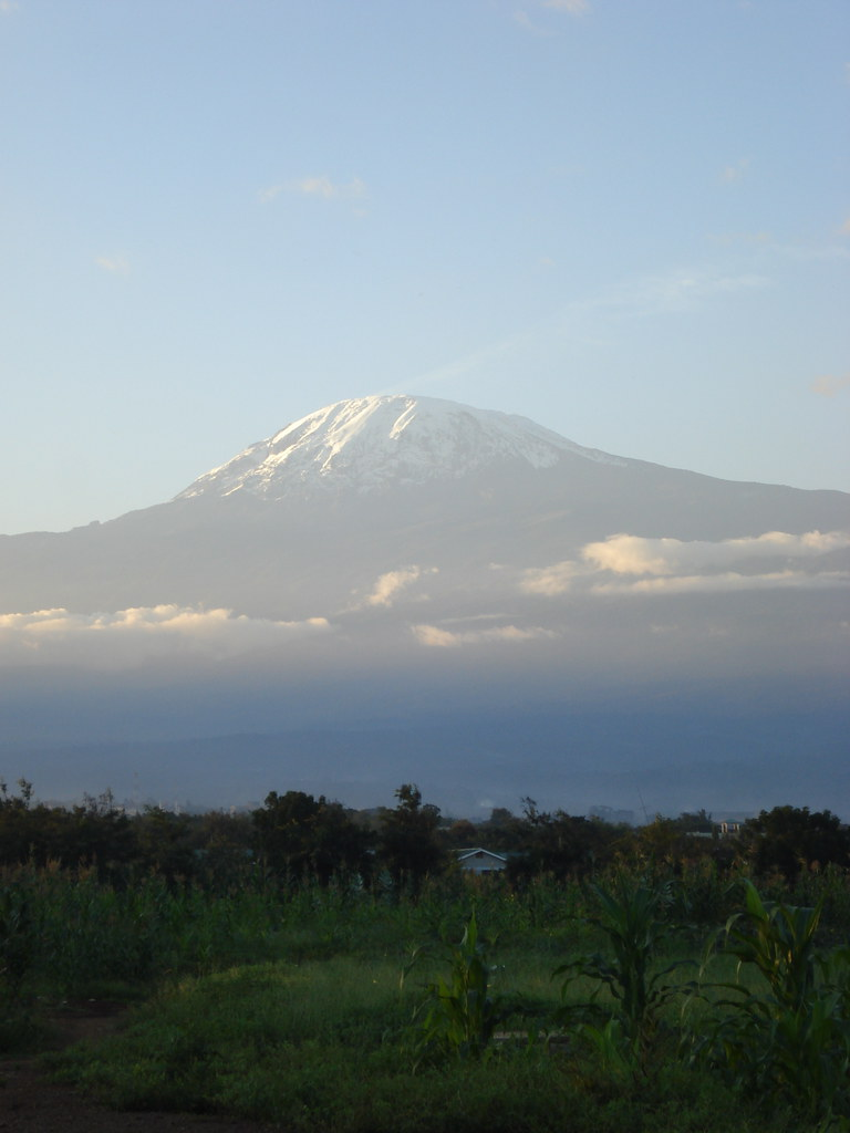 Mount Kilimanjaro Tanzania Taken From The Town Of Moshi