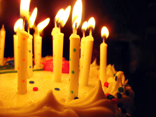 Candles On Cake Images