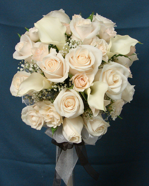 White Rose And Calla Lily Wedding Bouquet