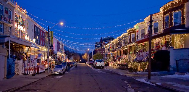 christmas lights 34th street hampden baltimore md by crabsandbeer kevin moore - Christmas In Baltimore