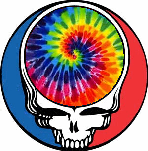 grateful dead tie dye steal your face constructed by