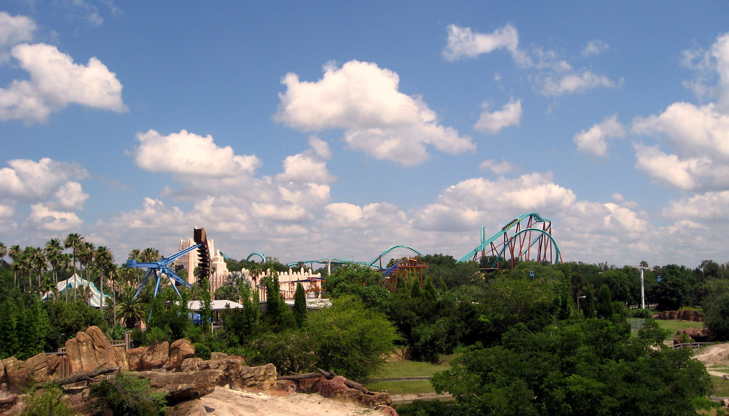 Busch Gardens Skyride View Towards Kumba Roller Coaste