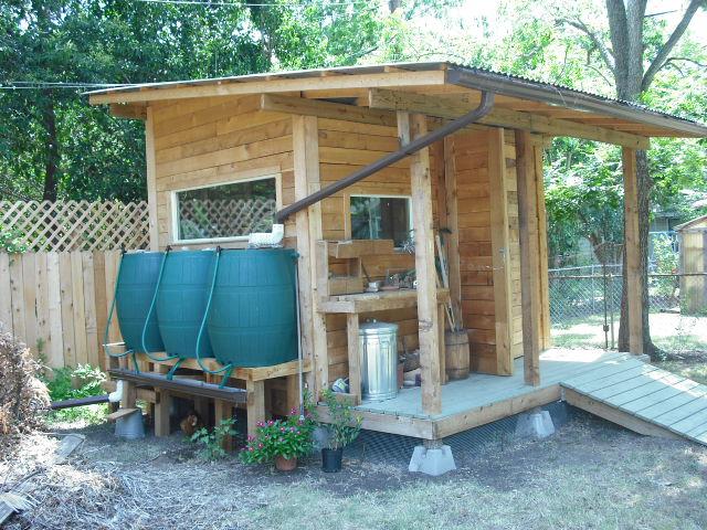 ... Garden Shed W/ Rain Barrels | By Wmbozarth