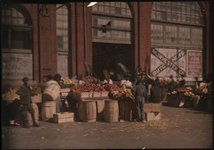 Outdoor urban market scene | by George Eastman House