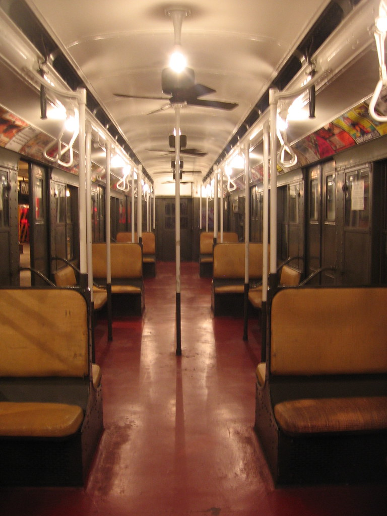 old subway cars interiors new york transit museum flickr. Black Bedroom Furniture Sets. Home Design Ideas