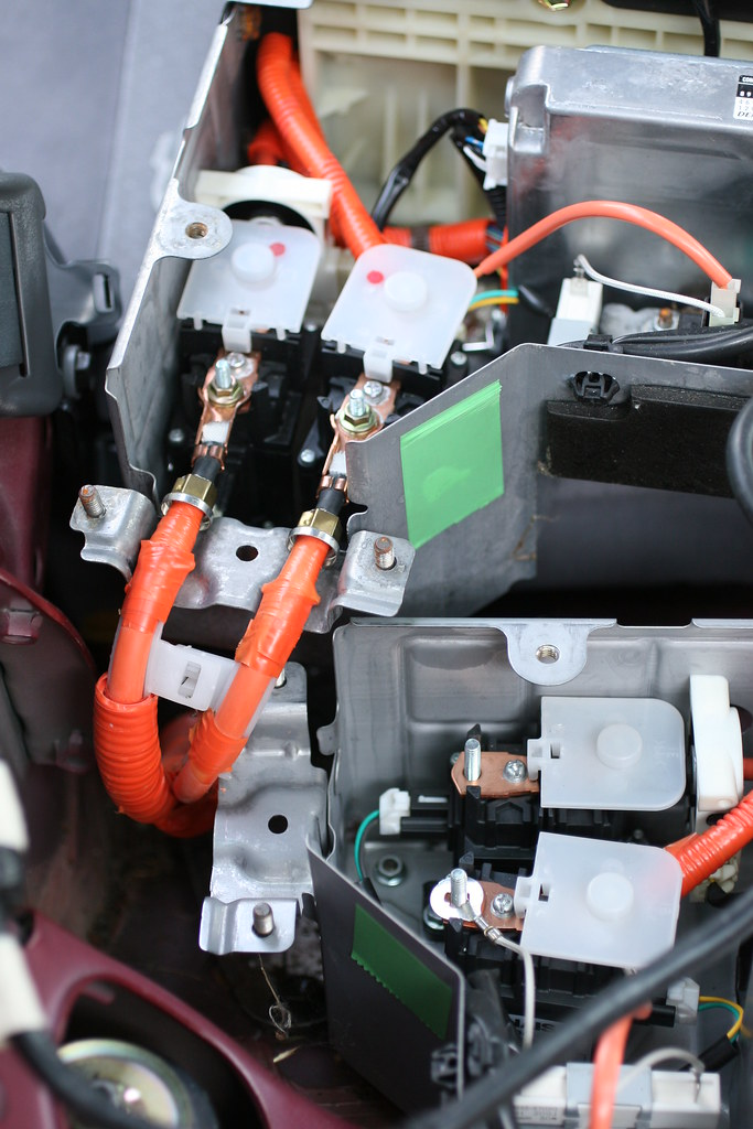 New Toyota Prius >> Prius Battery Terminals | Close-up of the main terminals of … | Flickr