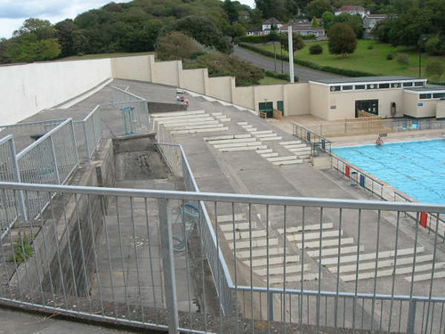 Portishead open air pool terraces photo kindly sent to - Open air swimming pool portishead ...