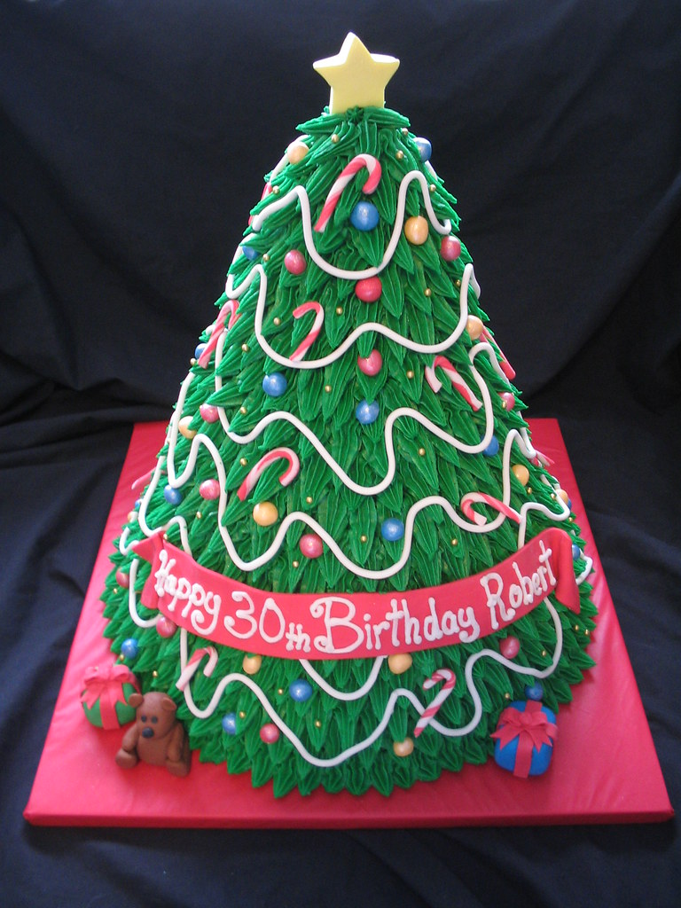 3d christmas tree cake giggy 39 s cakes and sweets flickr for 3d decoration for birthday