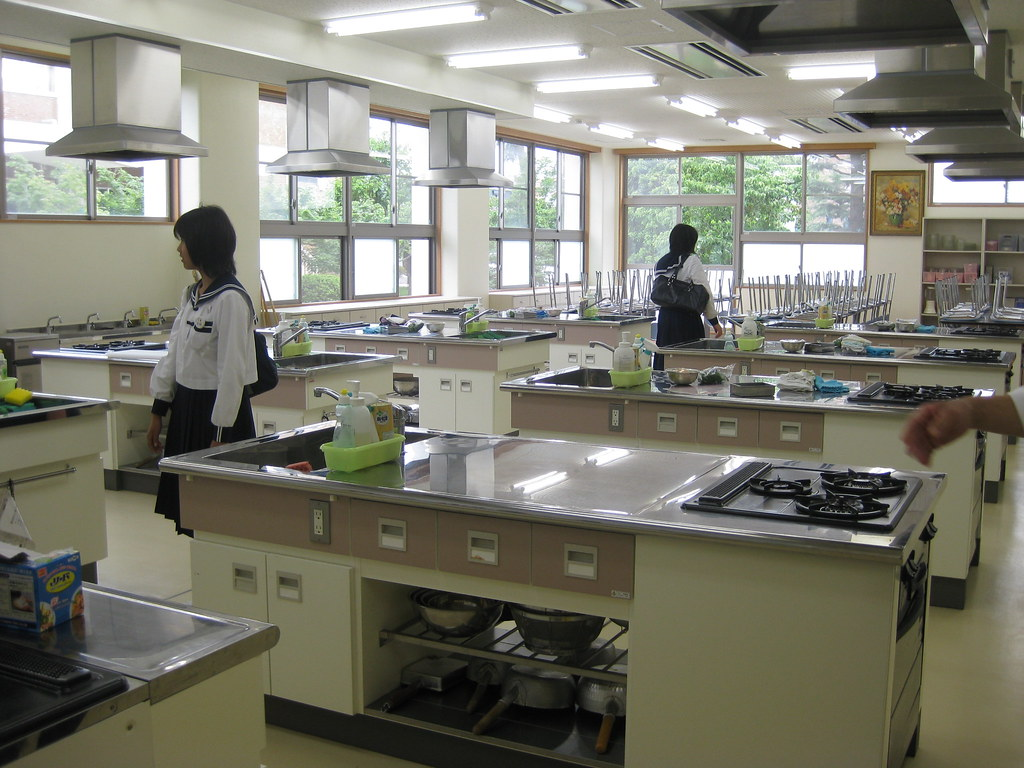 June Classroom Ideas ~ The cooking classroom so clean at end of class we