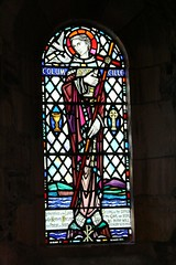 Stained glass window of <br/>St. Columba from Iona Abbey. <br/> [Vegansoldier](https://www.flickr.com/photos/vegansoldier/) [CC-BY-SA](https://creativecommons.org/licenses/by-sa/2.0/)