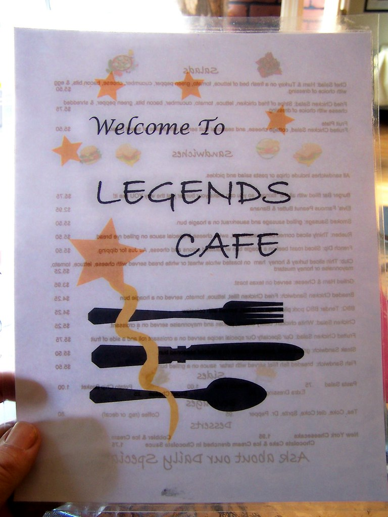 Legends Cafe Menu St Cloud Mn