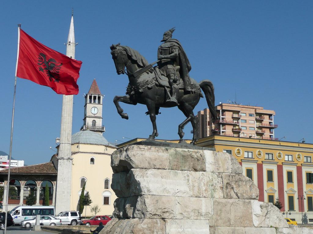 Skanderbeg Statue, Skanderbeg Square | Et'hem Bey Mosque ...
