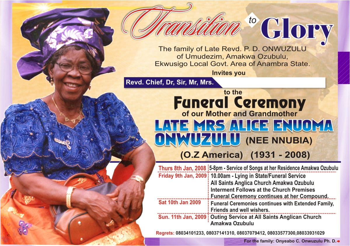 invitation to a funeral – Invitation to a Funeral