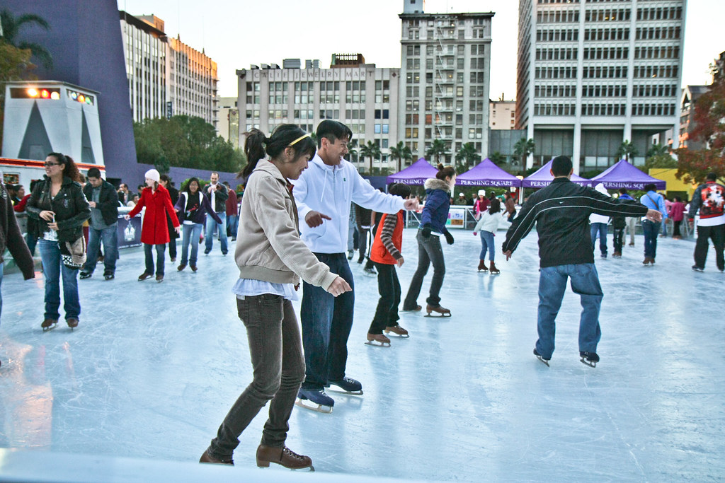 ice skating at pershing square took the family out ice ska flickr. Black Bedroom Furniture Sets. Home Design Ideas