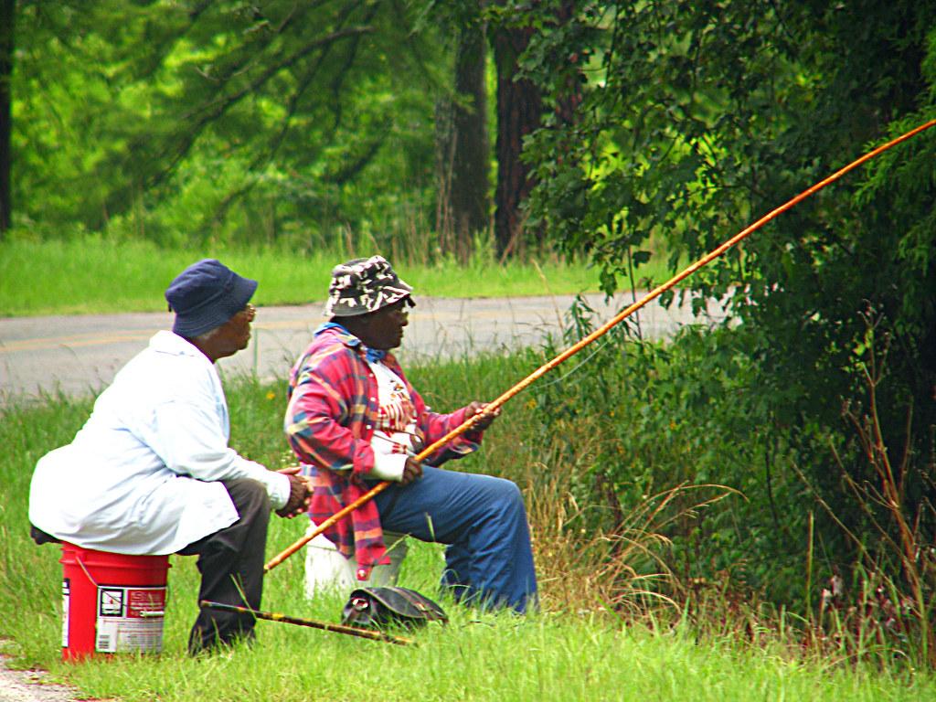 Cane Pole Fishin 39 Two Women Cane Pole Fishing In Doyle
