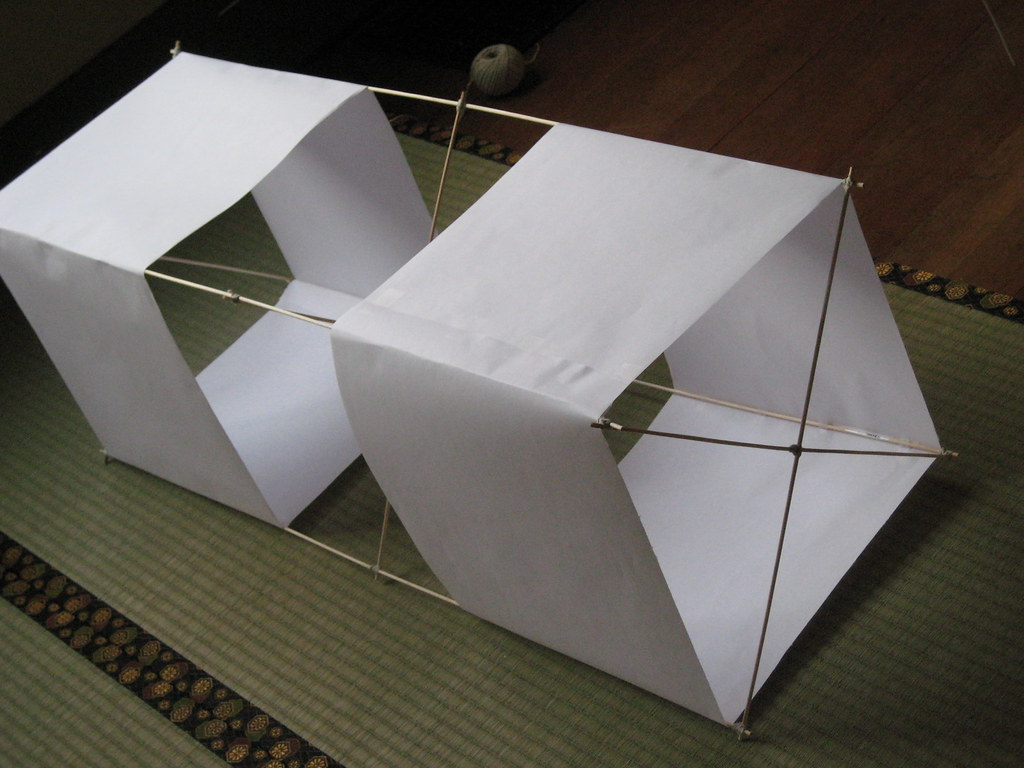 A completed box kite a box kite is a great intro kite it 39 flickr - How to make a kite ...