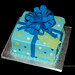 Blue and green package Baby shower cake
