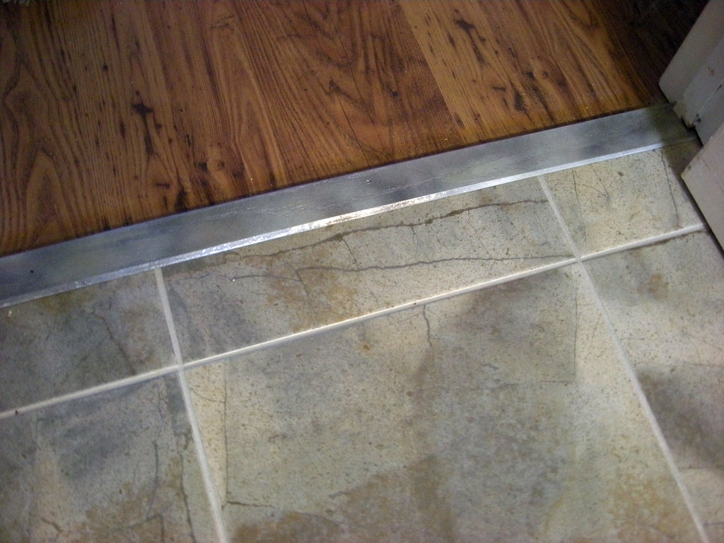 Hardwood Tile Transition Kitchen