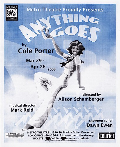 Anything Goes program cover | by yumiang