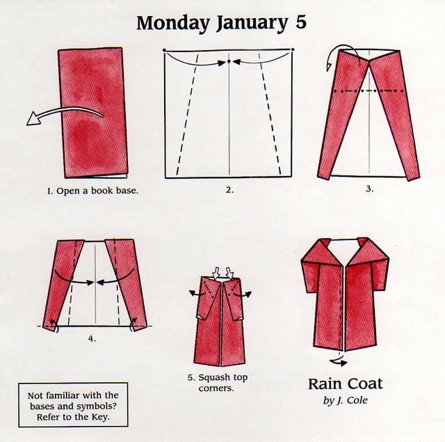 Rain Coat Origami Instructions