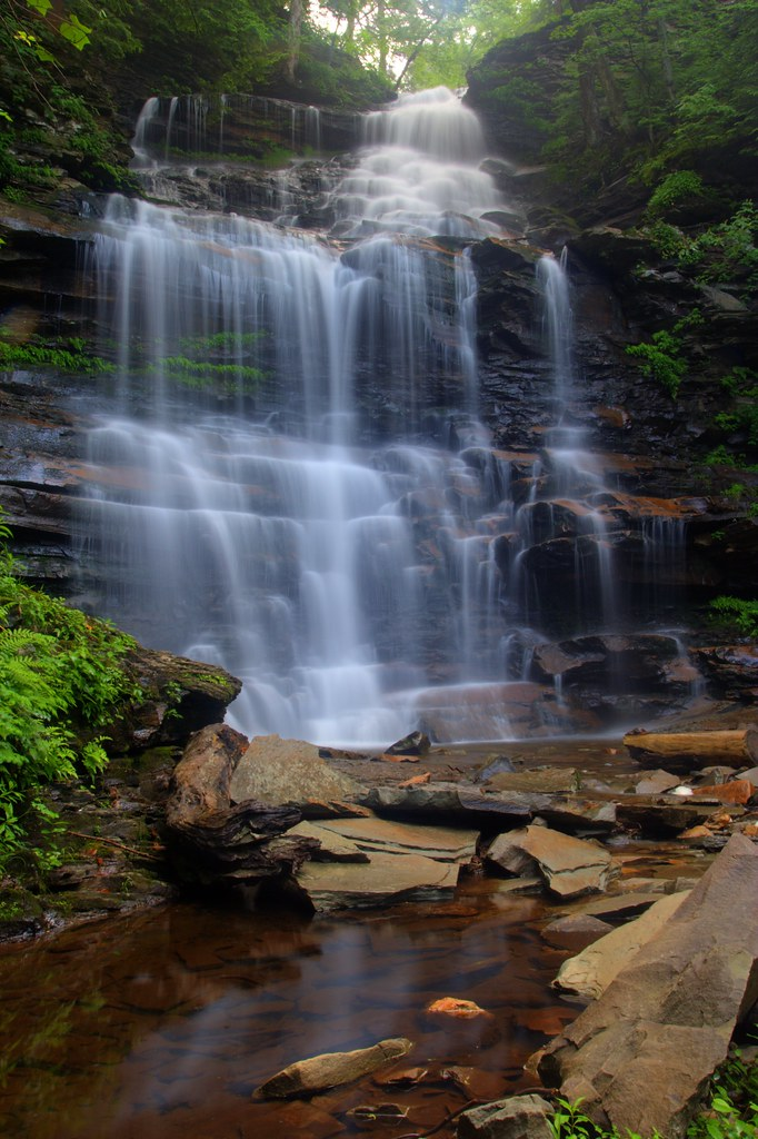 Ganoga Falls   This 94 foot tall fall is the tallest on ...