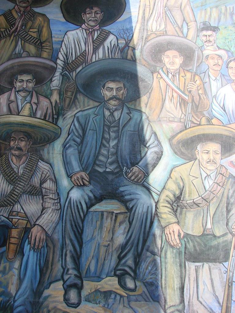 Mural vida de emiliano zapata paz navas flickr for Emiliano zapata mural