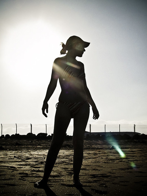 Terms Of Use >> Woman Silhouette | Loly (myWife) in backlight @ Playa Honda,… | Flickr