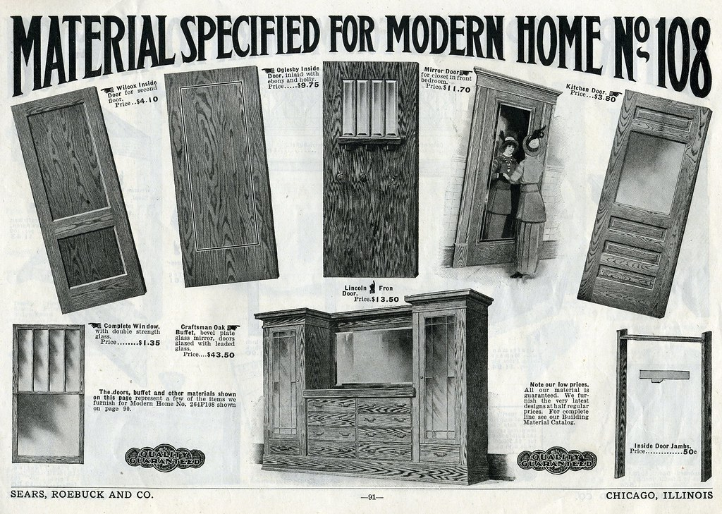 Millwork for a sears house 1916 sears house plan catalog for House plan catalogs free