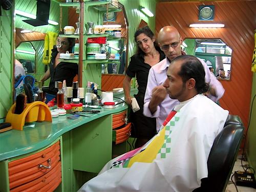 Lapdogs barber scene