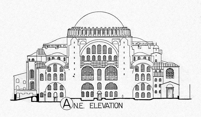 Hagia Sophia Elevation hagia sophia : elevation from northeast title ...