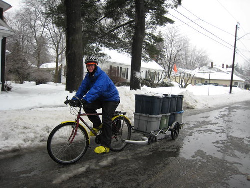 Riding through a cold rain | by WNPR - Connecticut Public Radio