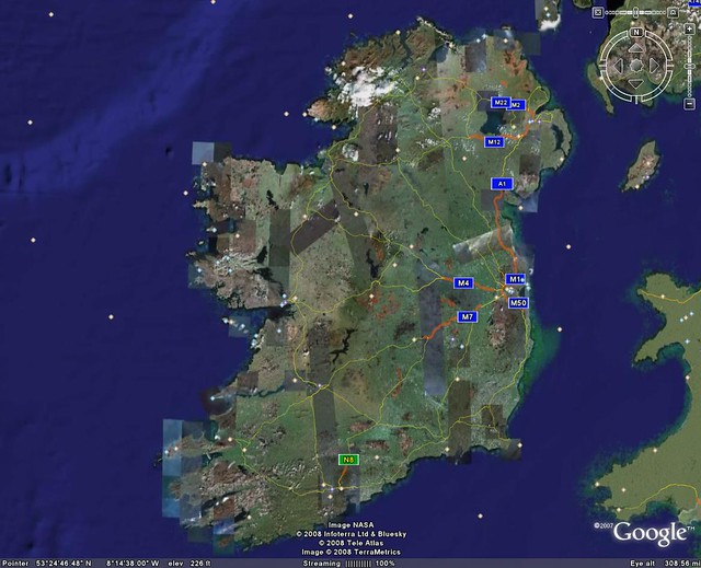 Satellite Map Of Ireland.Ireland Satellite View Brad77 Flickr