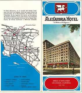 Alexandria Hotel brochure, front cover and map | by jimw