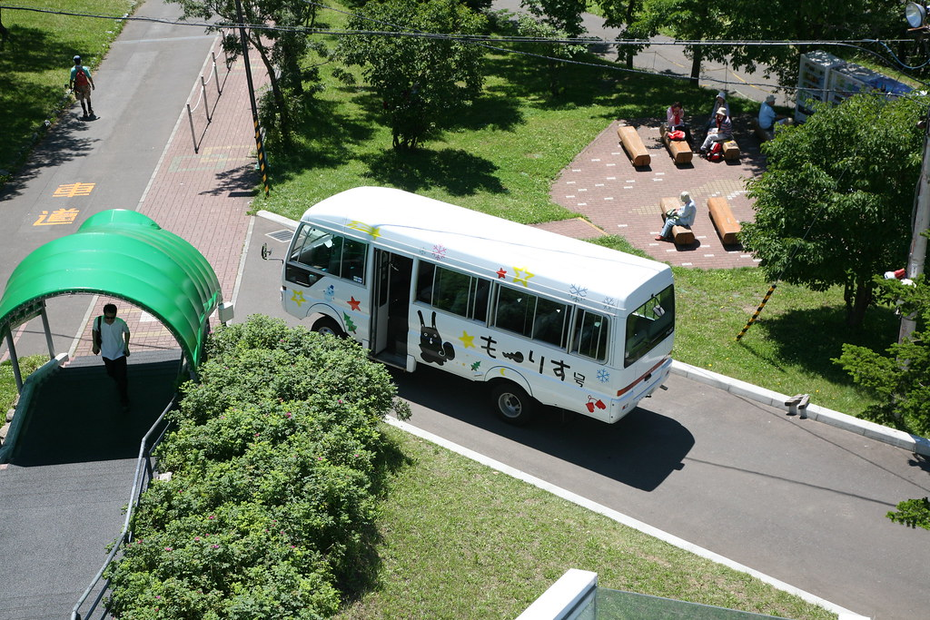Mt. Moiwa Ropeway Bus  The bus takes you to the observation…  Flickr