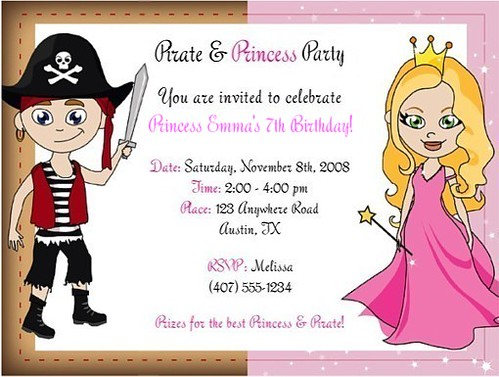 Princess and PIRATE Party | Princess and Pirate Birthday ...