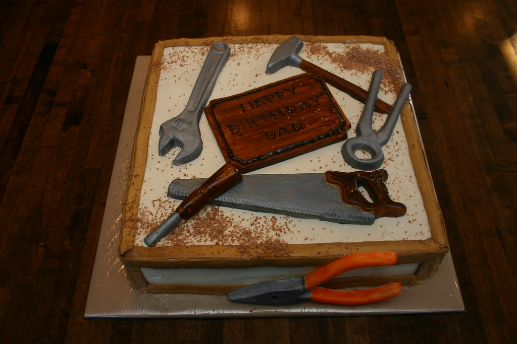 Happy Birthday Cake Pictures For a Man Handy Man Birthday Cake