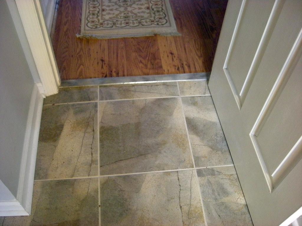Kitchen Floor Tile Planks With Geometric Figures