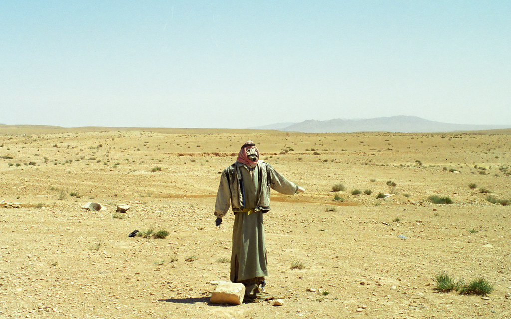 Eos Palm Desert >> A Syrian scarecrow in the desert off the road between Palm ...