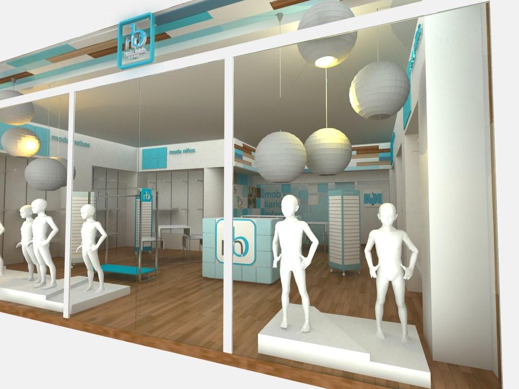 Aparadores para tienda moda bebe cubo 3 dise o de tienda for Disenos de interiores para boutique