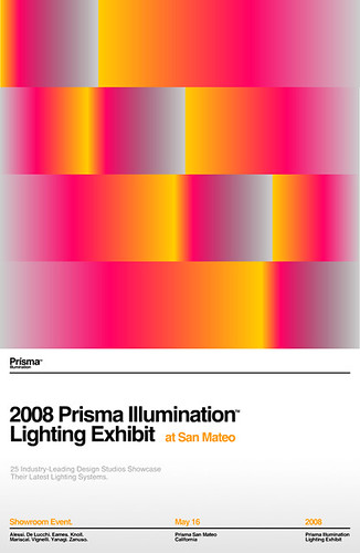 2008 Prisma Illumination Lighting Exhibit Poster A